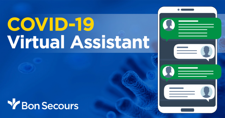 Bon Secours COVID-19 virtual assistant