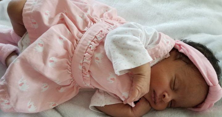 Baby Marlee, her mother, Christian, was diagnosed with COVID-19 before her birth.