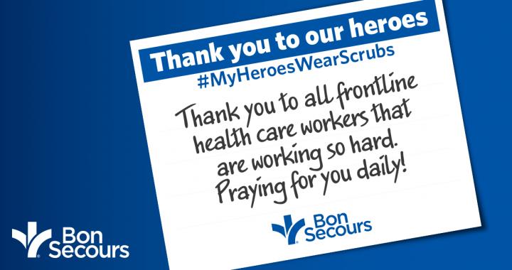 Bon Secours health care thank yous