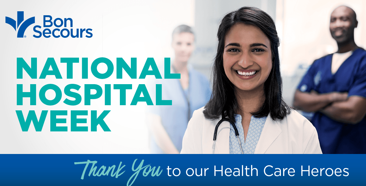 National Hospital Week Bon Secours thank you graphic
