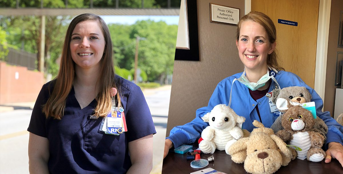 Bon Secours nurses Stacey Anne Wilson and Michelle Vaughan