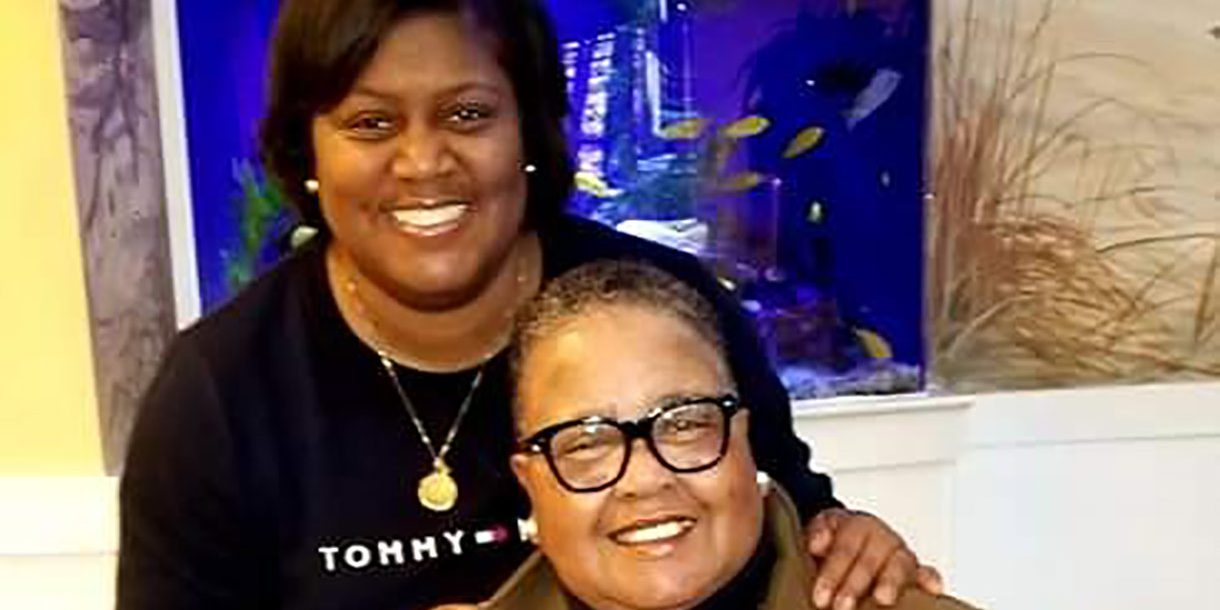 Denice Harris with her mom, Carolyn.