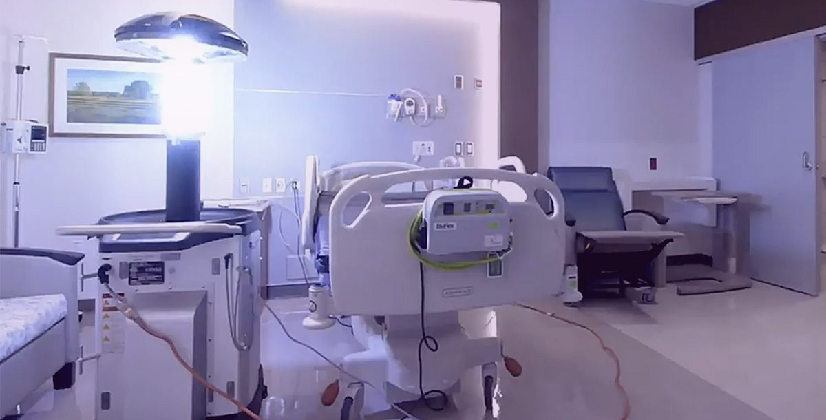The Xenex LightStrike Germ-Zapping Robots™ at Bon Secours St. Francis Health System.
