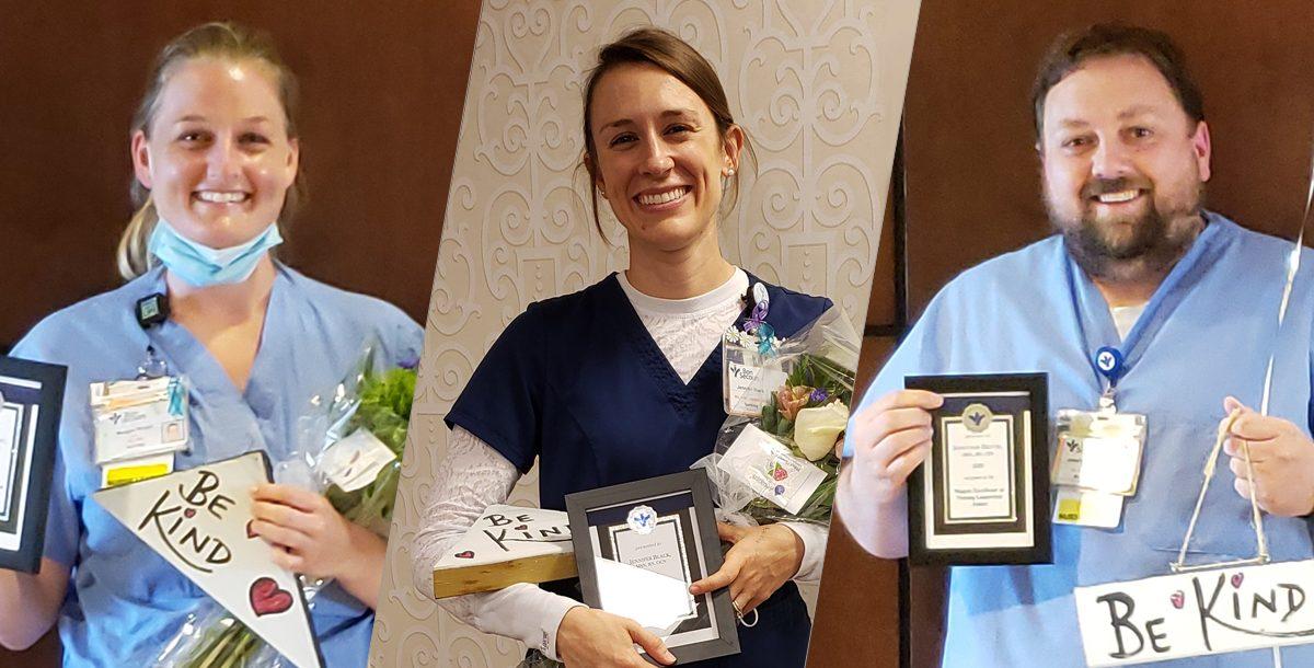 The three St. Mary's Hospital Nursing Award Winners.