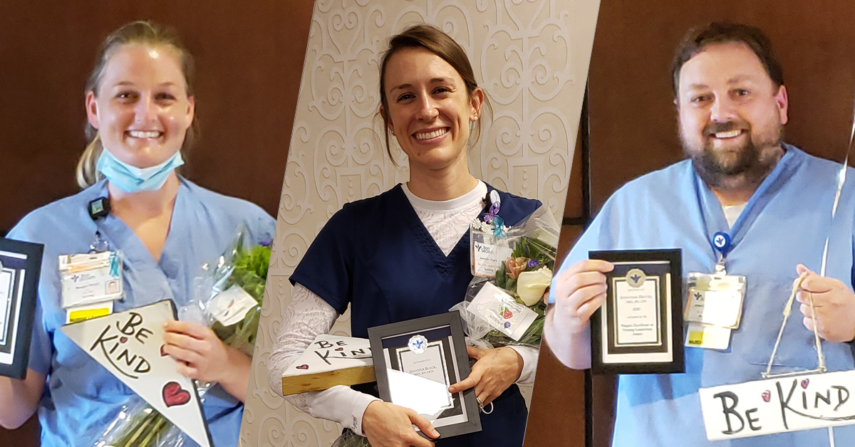 The three St. Mary's Hospital Nursing Award Winners.