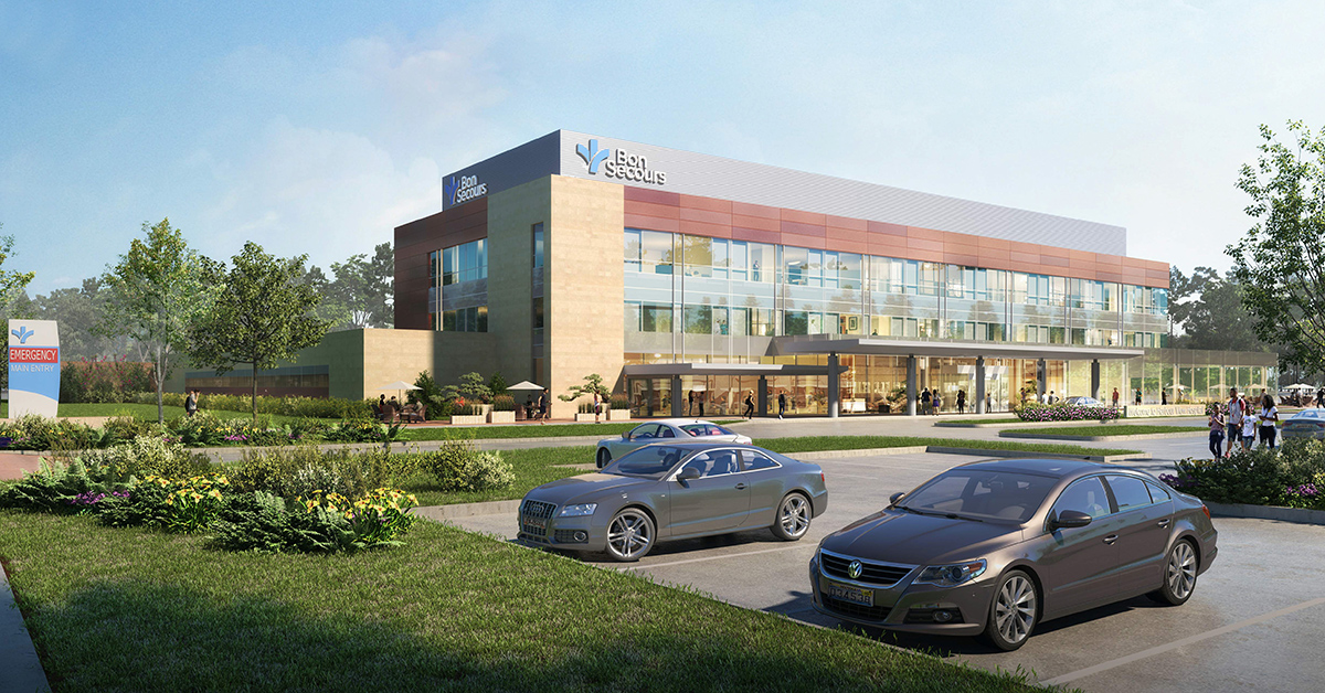A rendering of what the Harbour View Hospital expansion will look like