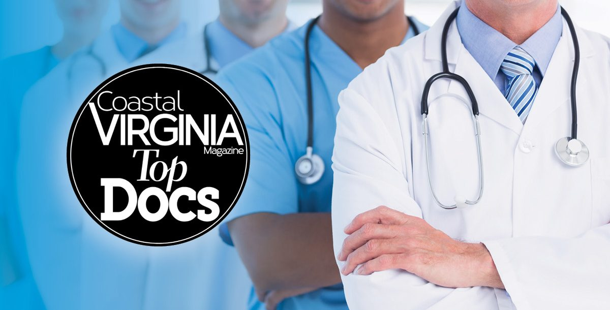 "Six Bon Secours doctors have earned the title of ""Top Doc"" for 2020 by Coastal Virginia Magazine."