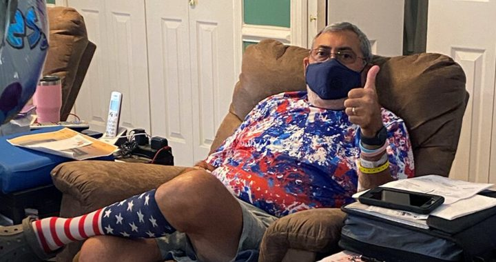 Paul Kaplan at home recovering from COVID-19.