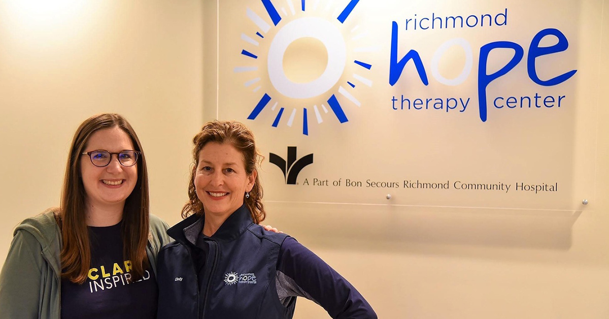 Cindy Richards with a team member at Richmond Hope Therapy Center,