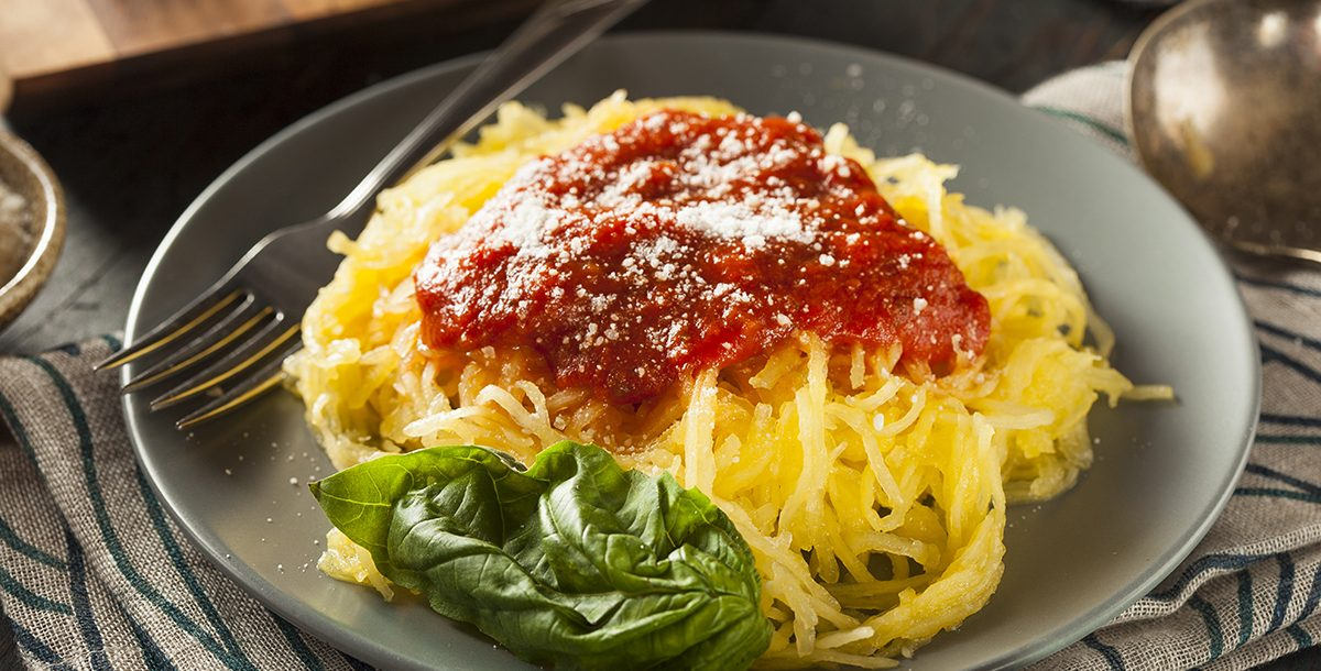 Spaghetti squash with sauce