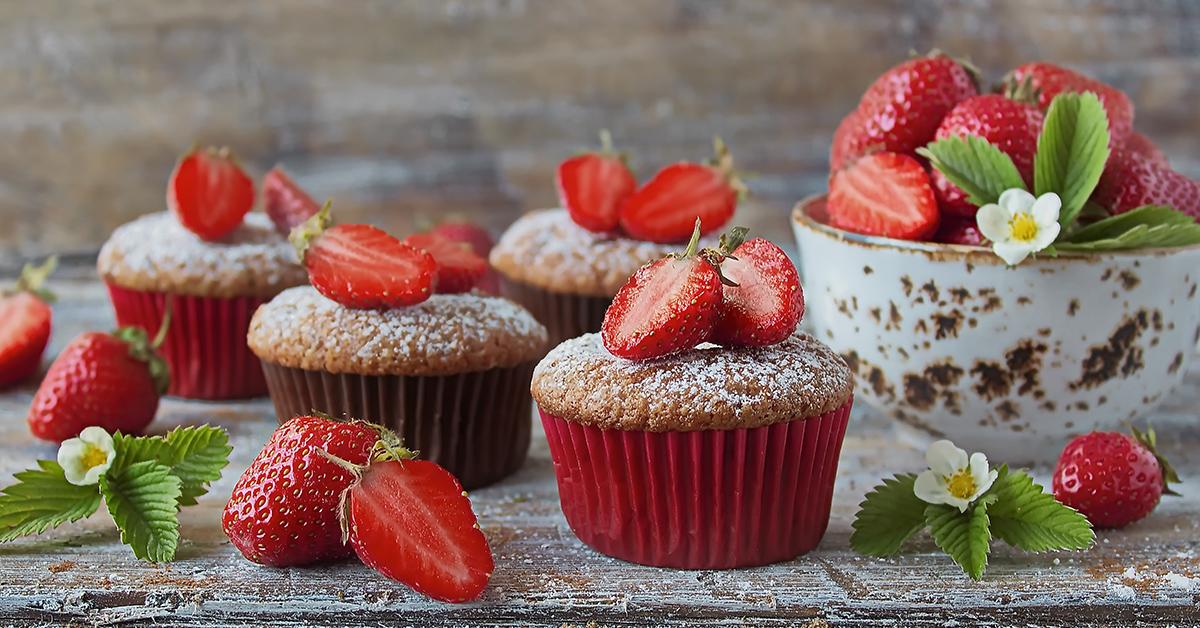 Strawberry Beet Muffins
