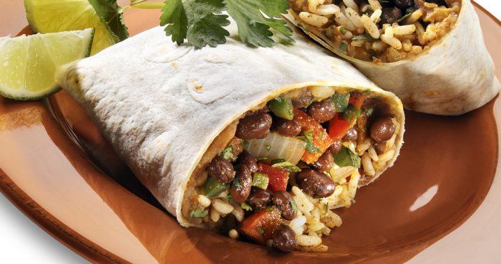 a veggie burrito