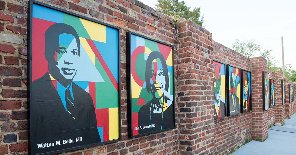 Photo of the Legacy Wall in Richmond.