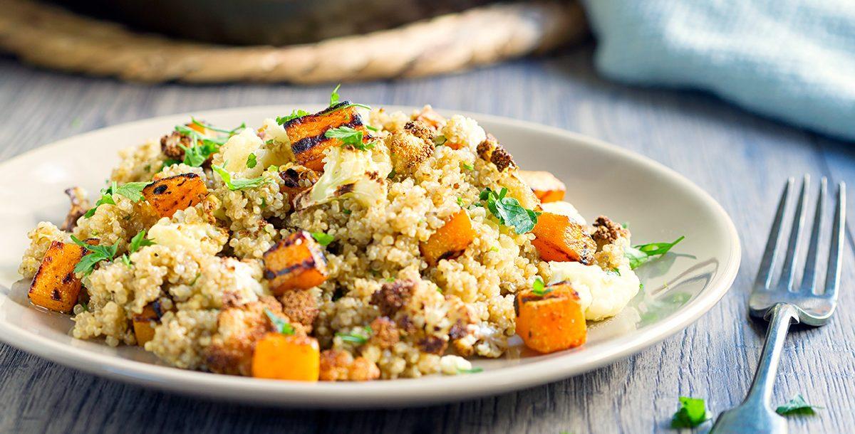 A cauliflower and quinoa salad