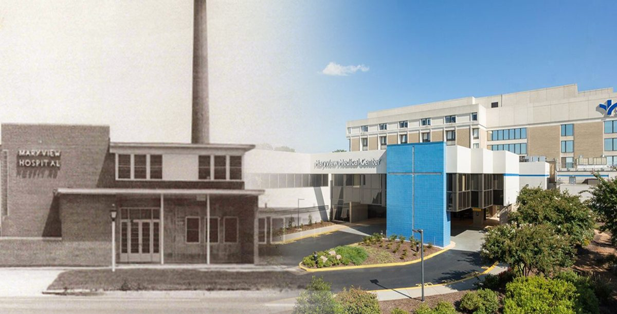 Maryview Medical Center then and now