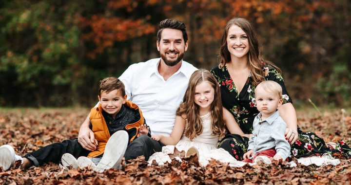 Stacey Newton with her family