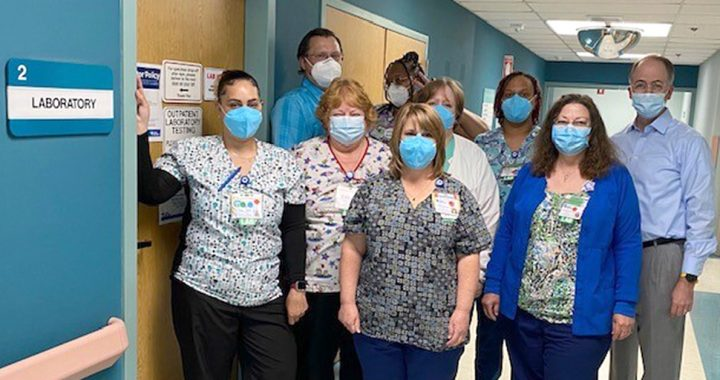 The Rappahannock General Hospital lab team.