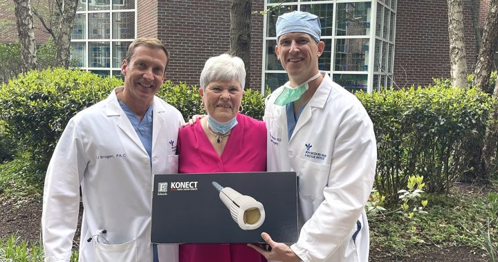 BJ Brogan, physician assistant, Carolyn Pendelton and Brody Wehman, cardiac surgeon