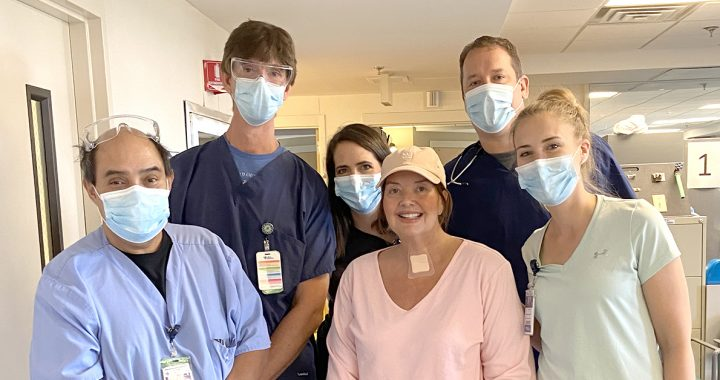 Mandy with her Bon Secours care team.