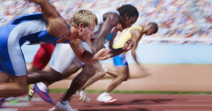 track athletes running