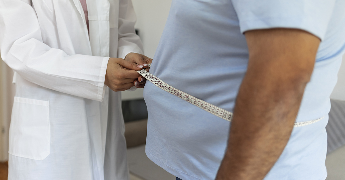 A person considering weight loss surgery with their provider.