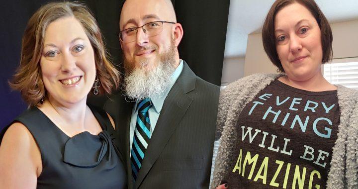 Rebekah Santaw and her husband