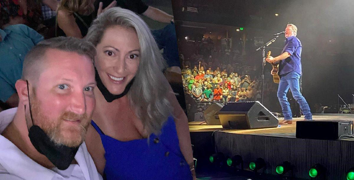 Erin Wade at the Blake Shelton concert