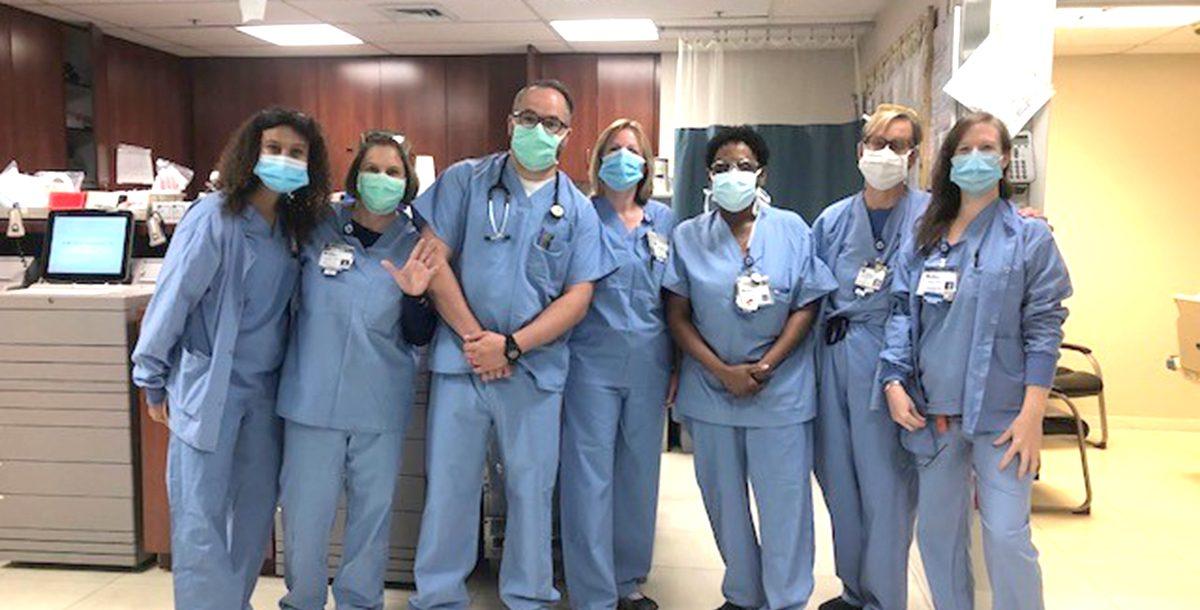 St. Mary's Hospital surgery team members